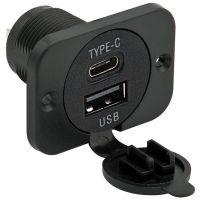 DOPPIA PRESA USB+USBC 5V 3A PANN