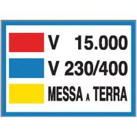 CARTELLO MESSA A TERRA 15000 V